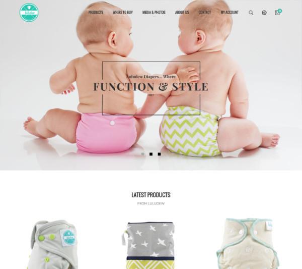 Luludewdiapers.com homepage