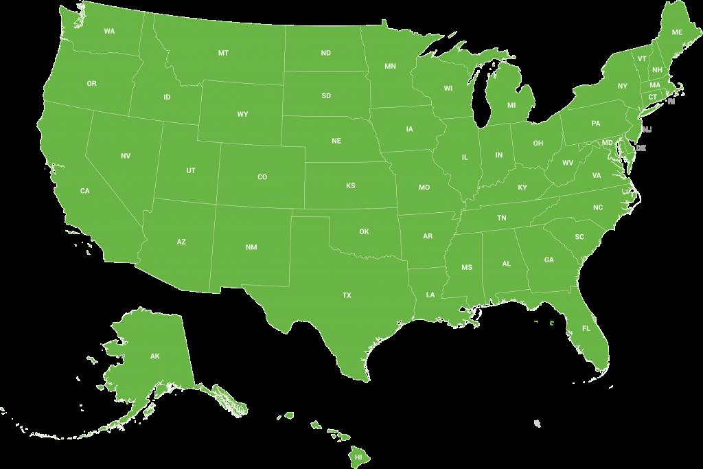 Green USA Map