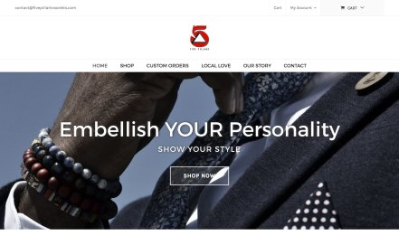 5pillarbracelets website portfolio thumbnail