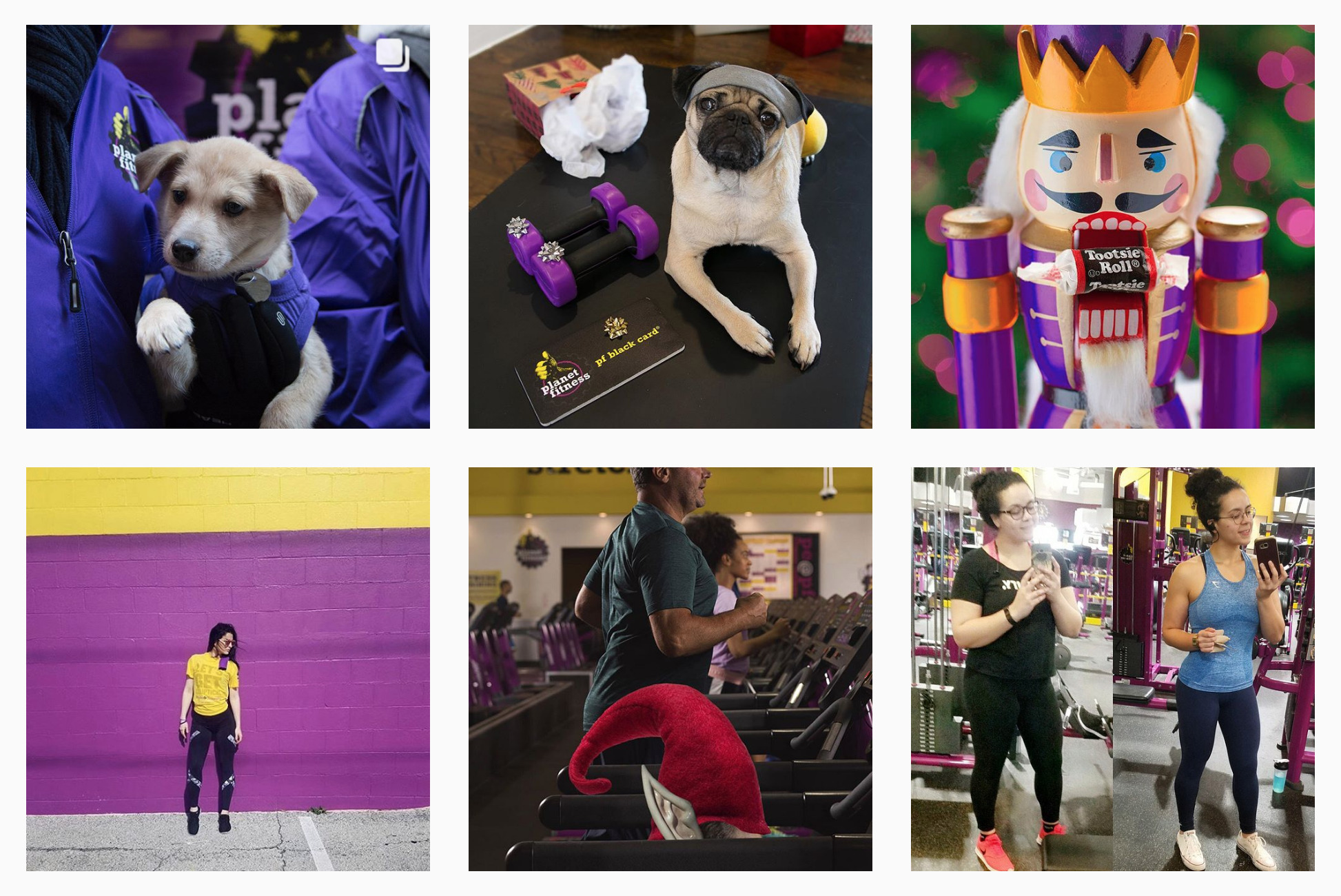 Planet Fitness Instagram posts