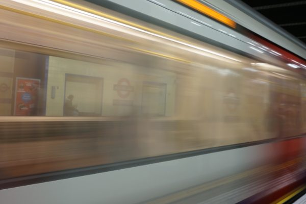 Subway moving fast