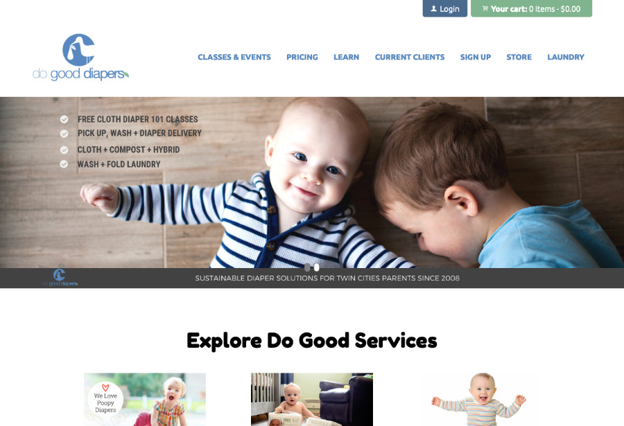 Do Good Diapers website thumbnail
