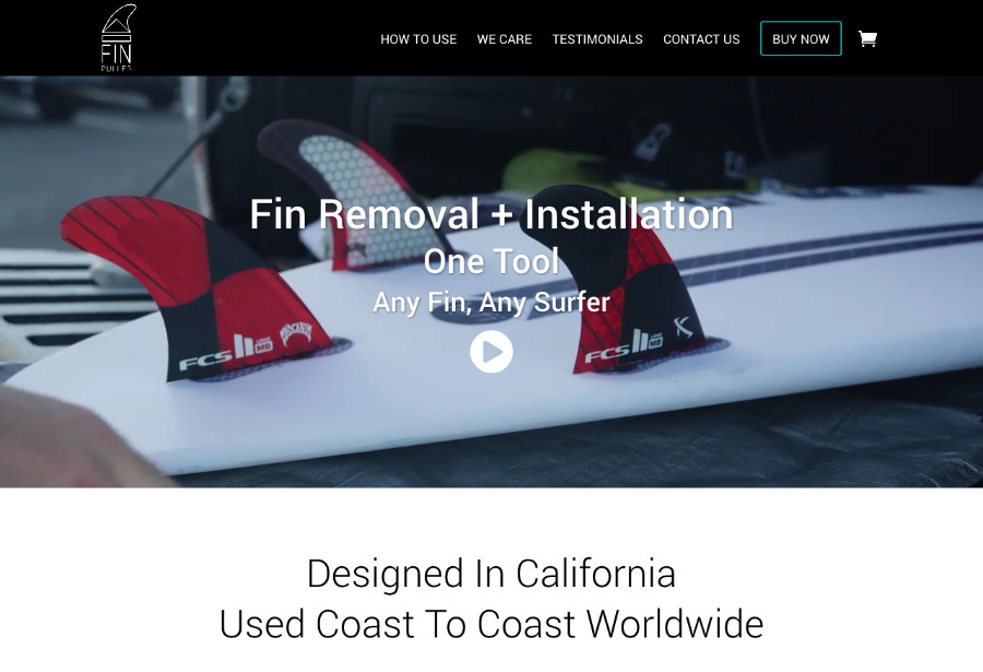 Fin Puller website thumbnail